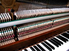 Photo of a piano keyboard