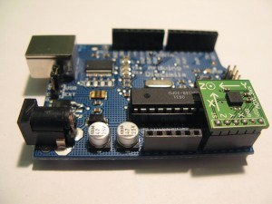 Arduino and ADXL330 accelerometer