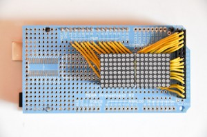 Figure 5. The finished board, with LED matrices.