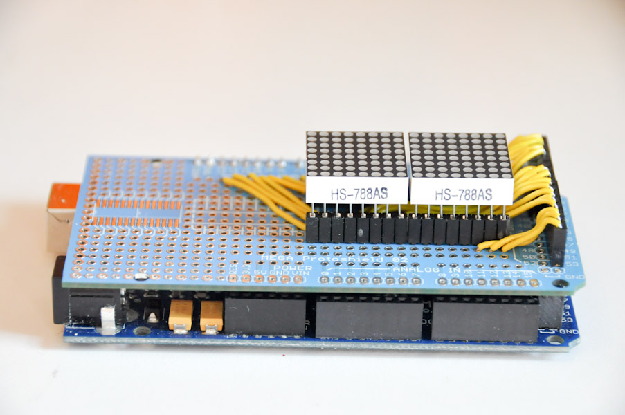 8×8 LED matrix control on an Arduino Mega | code, circuits