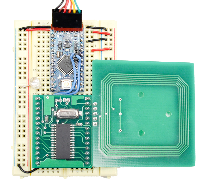 Arduino based rfid reader code circuits construction