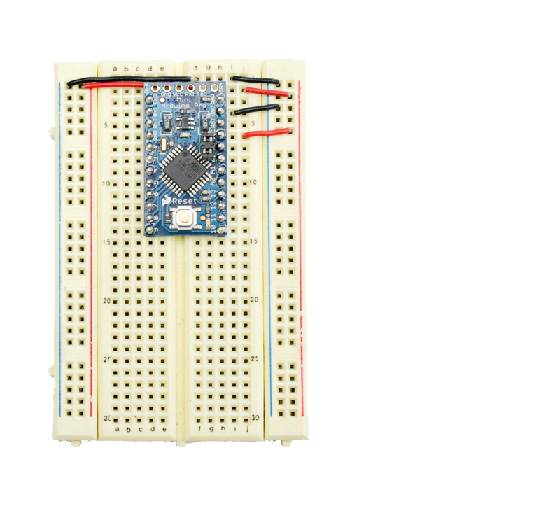 Figure 2. Insert the Arduino Pro Mini